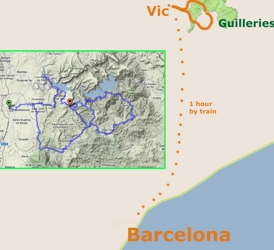 Map of Barcelona Countrysade Lakes Mountain Bike