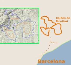 Map of the Tarragona Green Ways Bike Tour